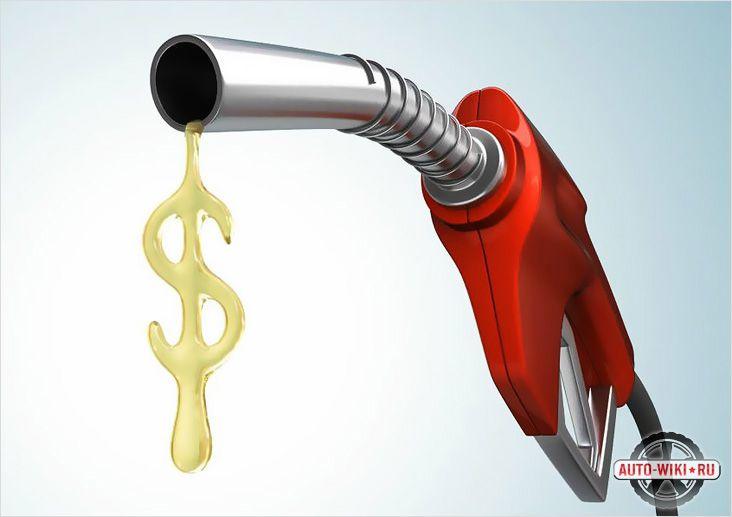 Автомобиль ест много бензина