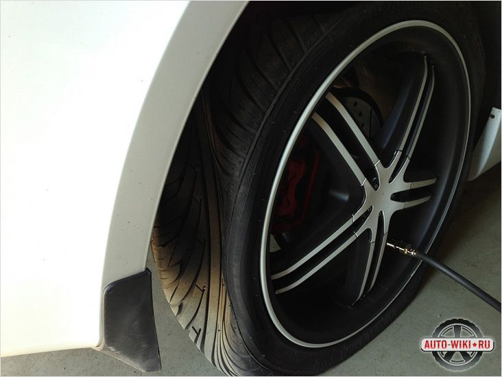 Подкачка колес