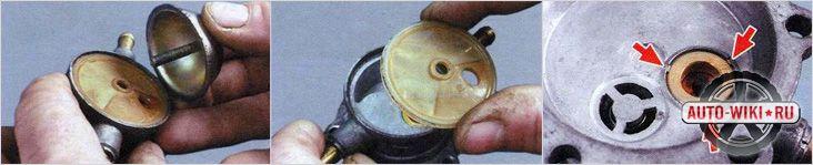 Замена сетчатого фильтра и деталей с трещинами
