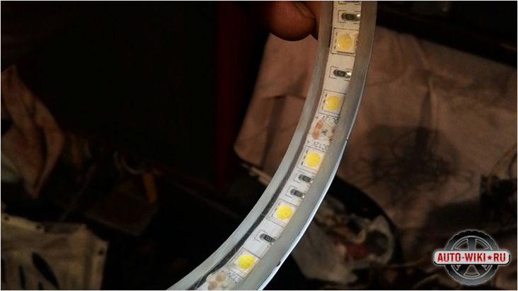 Монтаж светодиодной ленты с внешней стороны