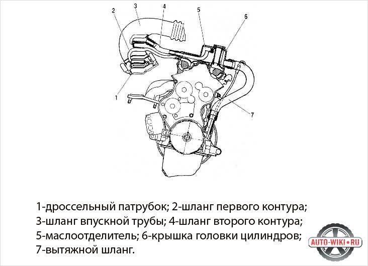 Система вентиляции картера схема