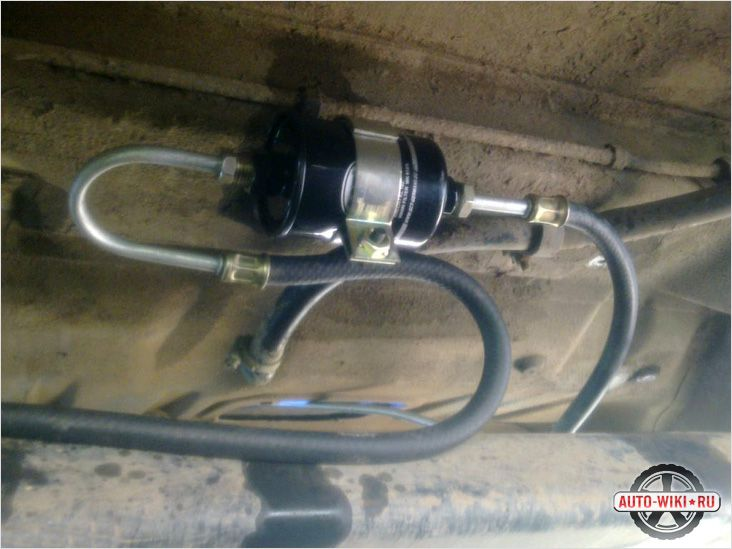Монтаж фильтра и топливных шлагов