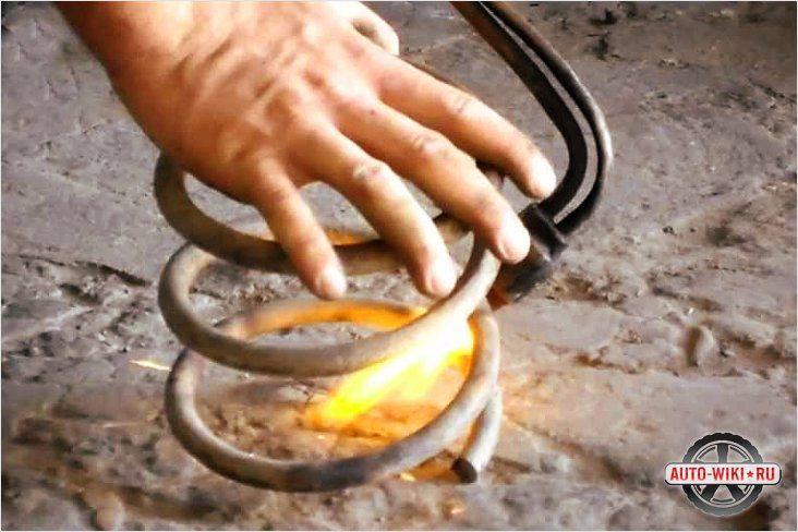 Обработка концов пружин