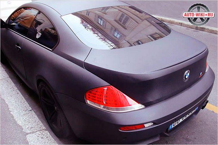 BMW полностью обтянутая карбоном