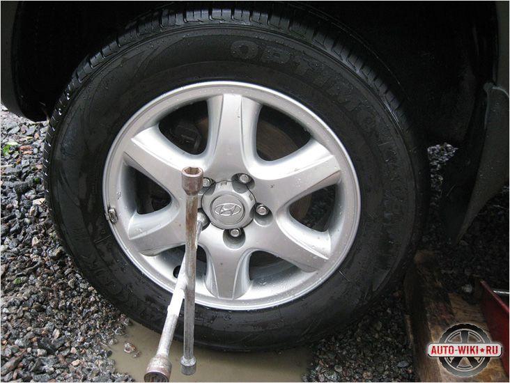 Откручивание колеса