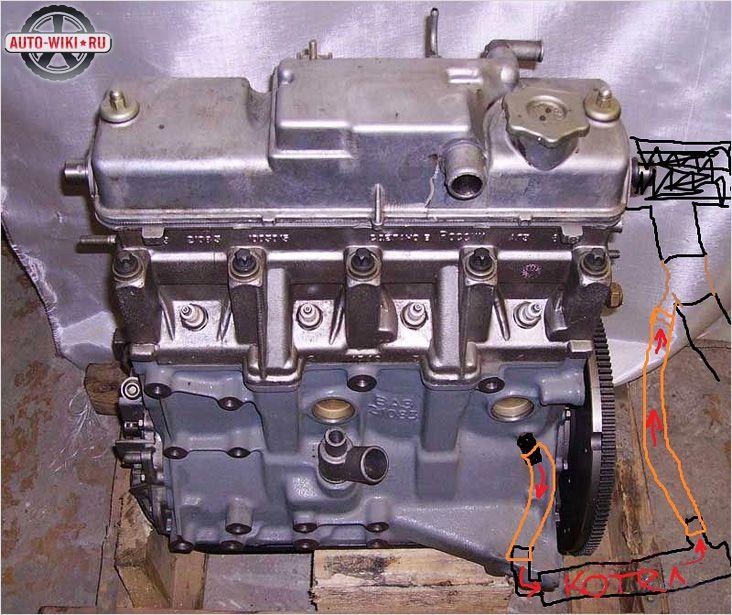 Подключение подогревателя к двигателю