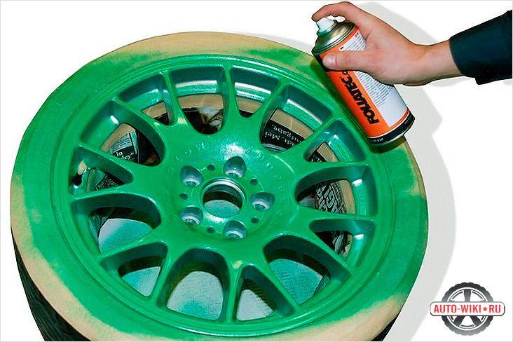 Покраски дисков своими руками фото