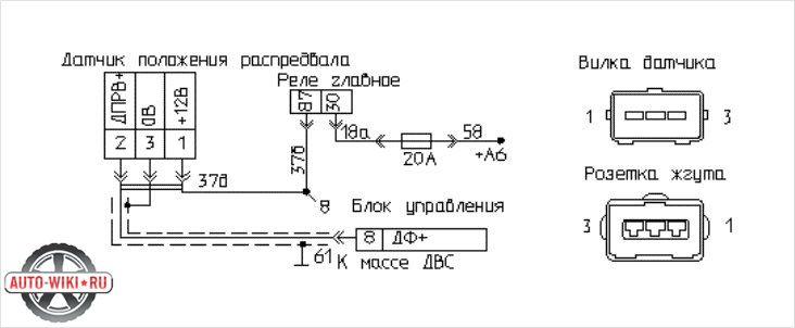 Схема расположения датчика