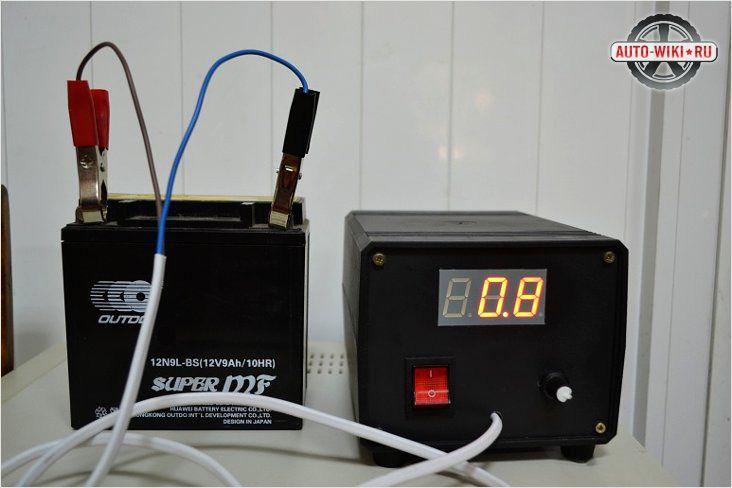 Процесс зарядки аккумуляторной батареи