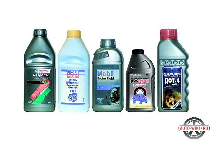 Разновидности тормозных жидкостей