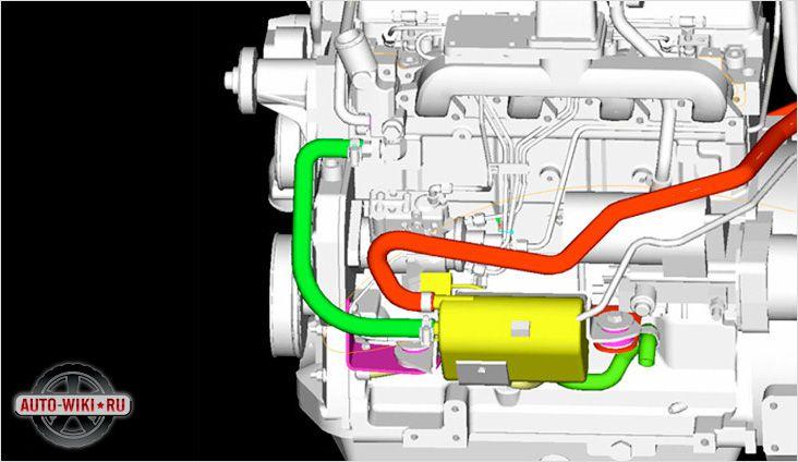 Схема установки автономной конструкции